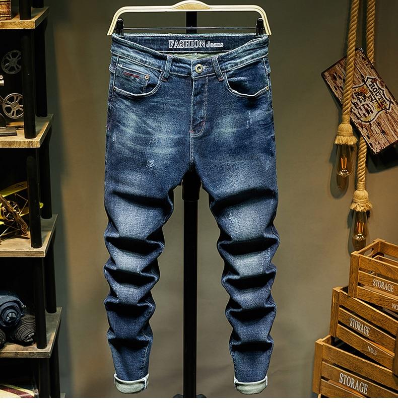 KSTUN Slim Fit Jeans Men Stretch Blue Fashion Mens Brand Jeans Casual Denim Pants Men's Clothing Male Long Trousers Wholesale 11