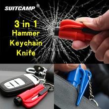 Key-Chain Knife Seat-Belt-Cutter Safety-Hammer Window-Glass Life-Saving Outdoor Emergency