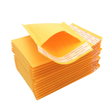 10/50pcs/pack Meduim Thick Shipping Envelopes with Bubble Packaing Yellow Waterproof Paper Bubble Mailers Mailing Bags Packing