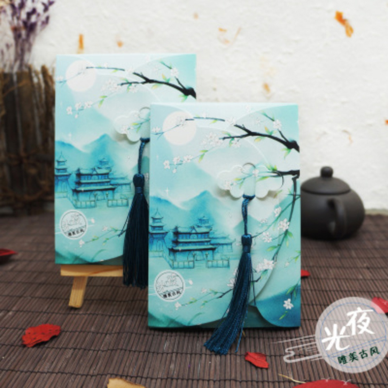 18sheets/LOT Chinese Style Luminous Postcards/Greeting Card/wish Card/Christmas And New Year Gifts