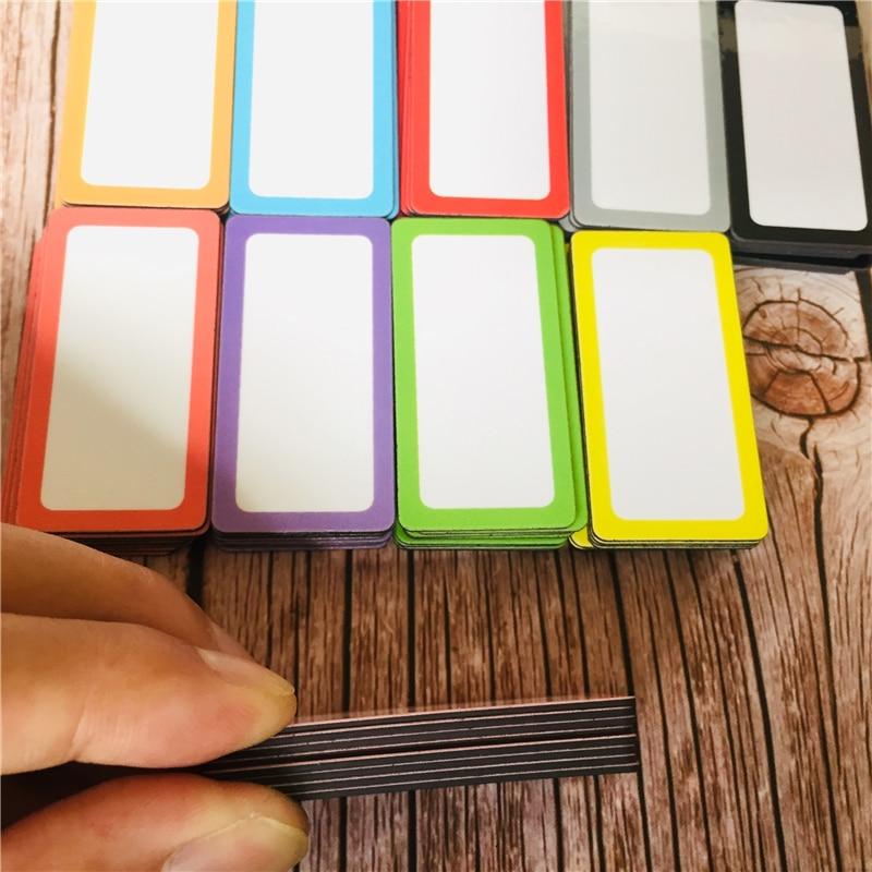 Nuevo 2 bandas magnéticas placas de alumnos en respaldo Reutilizables De Placas De L