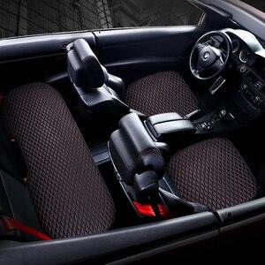 Image 4 - רכב קדמי אחורי מושב מכסה מכונית מושב המכונית כרית מושב כריות אוטומטי פנים רכב משאית Suv ואן מושב כיסוי מכונית מחצלת כיסוי