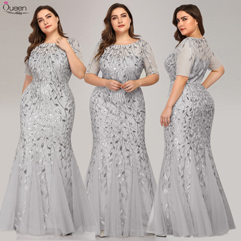 Elegant Lace Evening Dresses Queen Abby Long Sequined Mermaid Sexy Formal Wedding Guest Gowns Party Plus Size Abendkleider 4