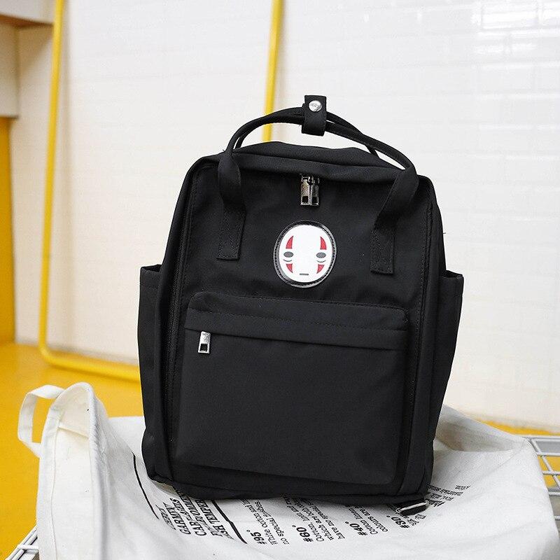 Harajuku Women's Backpack Laptop School Bags For Teenage Girls Spirited Away Casual Cute Rucksack Female Canvas Travel Backpacks