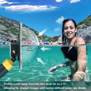 Image 5 - SOONSUN تصفية للتحويل قبة ميناء مقاوم للماء حافظة الغوص غطاء للعدسات ث/تعويم قبضة ل GoPro بطل 5 6 7 الأسود الذهاب برو 7 ملحق