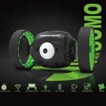цена на 2.4GHz Mini Cars Bounce RC Car With Flexible Wheels Rotation LED Light Remote Control Robot Racing Toys 634F