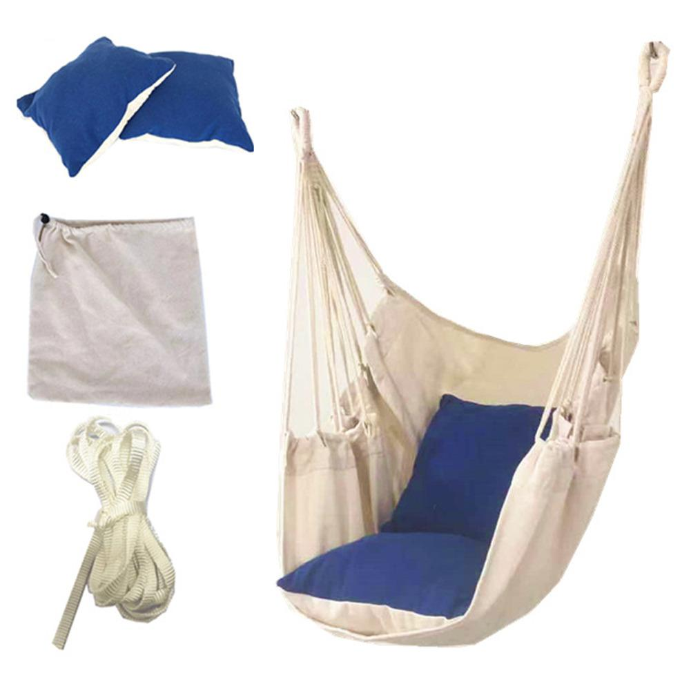 New Swing Seat Hammock Chair Seat Swing Chair Patio Swing For Outdoor Garden Hanging Chair Travel Camping Hammock Silla Colgante(China)