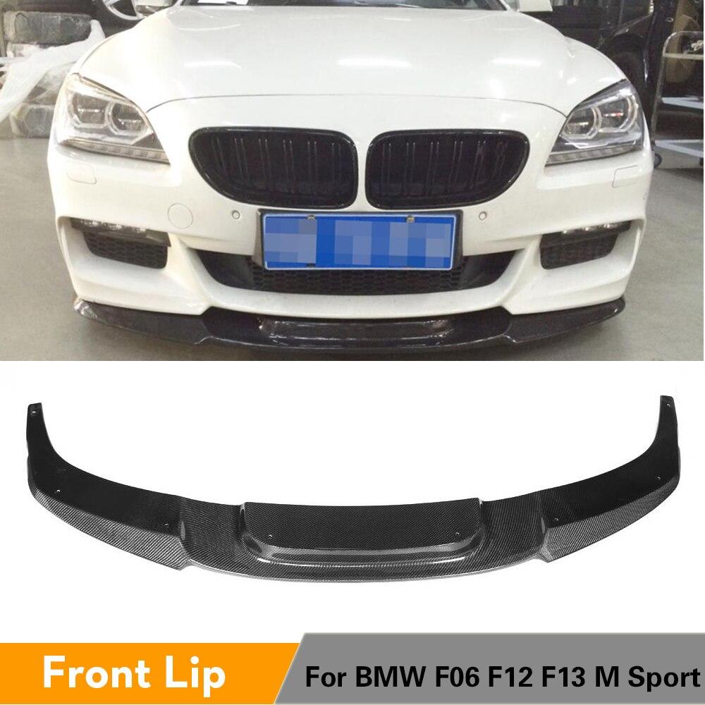 Karbonové vlákno Přední nárazník Rozdělovač rtu pro BMW 6 Řady F06 F12 F13 M-Sport Nárazník M-Tech 2012 - 2017
