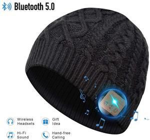 2019 Cap Hat Beanie com Removível Bluetooth fone de Ouvido Fone De Ouvido Sem Fio Bluetooth Speaker Mic Esporte Ao Ar Livre Chapéu Melhores Presentes