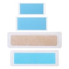 1pc Transparent Silicone Remove Scar Paste Trauma Burn Sheet Skin Repair Patch
