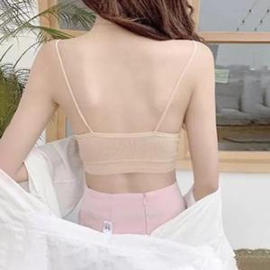 Sleeveless Top Top-Tank Camis Crop-Tops Streetwear Female Women Sexy Tube Bandeau Bra