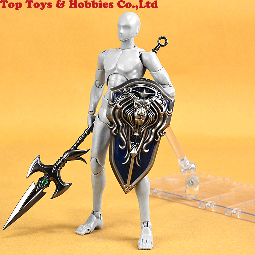 1//6 Scale Model Weapon Accessories Ancient Human Soldiers Metal Shields