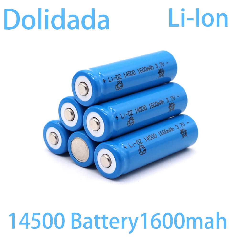 2020 оригинальный аккумулятор 14500 100% оригинальный аккумулятор 14500 3,7 в 1600 мАч литиевые батареи Литий-ионные перезаряжаемые батареи
