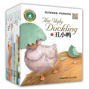 10 Books New Arrival Chinese Classic bedtime Story Book for baby Kids ,children's Bilingual English and Chinese short stories