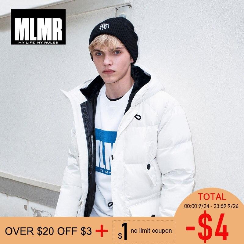MLMR 2019 ใหม่กลางยาวลงเสื้อฤดูหนาวเสื้อหนา warm parka  218312504-ใน เสื้อกันลม จาก เสื้อผ้าผู้ชาย บน   1
