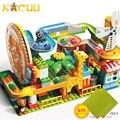 Новый поворотный круг Marble Race Run конструктор большой размер строительные блоки Воронка Горка DIY фигурки Кирпичи игрушки для детей подарок