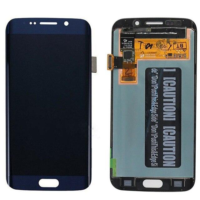 מקורי AMOLED LCD עבור סמסונג גלקסי s6 קצה G925U G925F מגע מסך Digitizer תצוגת אדום לשרוף