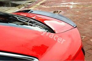 Image 4 - A3 S3 8V Carbon Fiber Kofferbak Lip Spoiler Wing Voor Audi A3 S3 8V Sedan 2014 2015 V Stijl