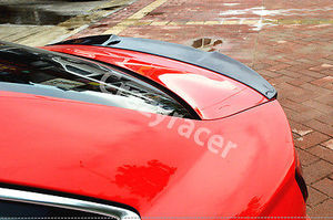 Image 4 - A3 S3 8V Carbon Fiber Rear Trunk Lip Spoiler Wing For Audi A3 S3 8V Sedan 2014 2015 V Style