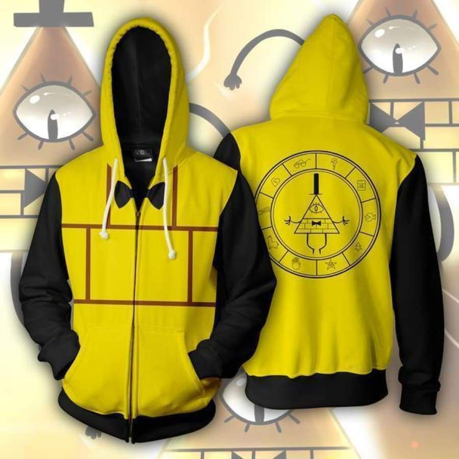 3d Digital Printing Gravity Falls Hoodie Sweatshirt Bill Cipher Anime Cosplay Costume Women Men Couple Hood Top Clothing New