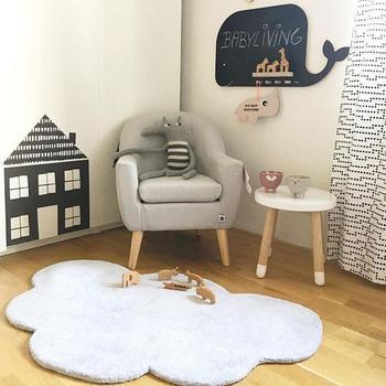 Cotton Bath Mat | Portable Foldable Baby Climbing Play Mat Nordic Style Cloud Shaped Cotton Mats Children's Game Crawling Mat For Children