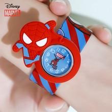 Дисней Мстители часы паук человек изображение Дисней Микки дети часы Минни погладить часы