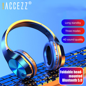 New Portable Wireless Headphones Bluetooth Stereo Foldable Headset MP3 Support Mic TF Card For IPad Mobile Adjustable Earphone