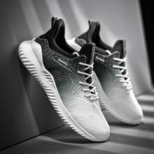 2020 Gradiënt Mesh Mannen Causale Schoenen Mannelijke Lente Mannen Casual Lichtgewicht Schoenen Sneakers Lace Up Flats Ademend Sapato Masculino