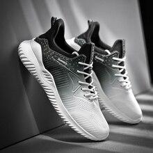 2020 Gradient Lưới Nam Nhân Quả Giày Nam Xuân Nam Nhẹ Giày Sneakers Cột Dây Đế Thoáng Khí Sapato Masculino