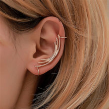 Pinksee New Simple Metal Arc Ear Clip for Women Girls Creative Personality Geometric Cuff Earrings Party Club Jewelry(China)
