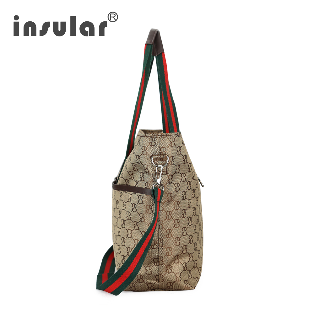 Fashionable oblique multi functional European version of waiting for delivery mothers and babies large capacity outgoing bag in Diaper Bags from Mother Kids