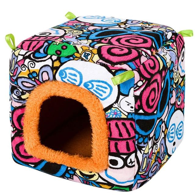 Small Animal Guinea Pig Hamster Hedgehog Bed House Warm Cage Bed Habitat Cave 4