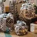 Casa Camera Di Natale Terra Desktop di Decorazione di Illuminazione Da Parete A Sospensione Appeso Campana Renna Orso Bruno Atmosfera Decorazione