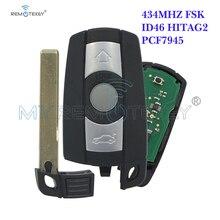 Remtekey Smart Key 3 Button Car key 434Mhz KR55WK49127 for BMW Remote Key E39 E60 328i 335i 528i 535i 550i 2008 2009 2010 1 set wastegate rattle flapper rebuild kit for bmw 335i 135i 535i n54 mitsubishi td03 csl2017