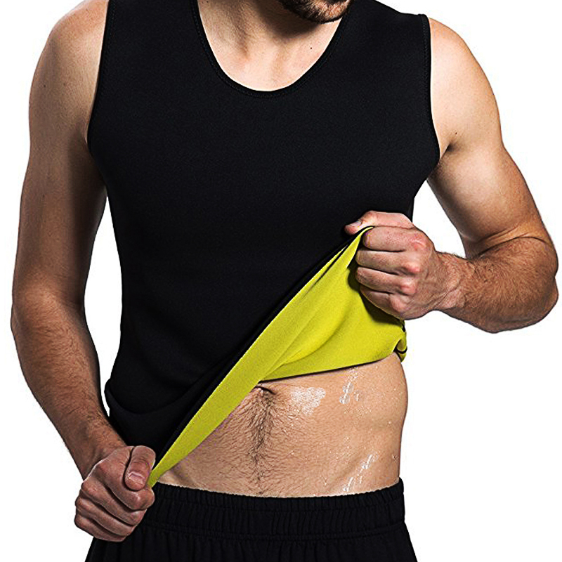 Slimming  Tshirt Belt Belly Men Slimming Vest Body Shaper Neoprene Abdomen Fat Burning Shaperwear Waist Sweat Corset Dropship