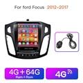 Автомобильный мультимедийный плеер Радио Видео плеер Android GPS навигация Plyaer для Tesla экран Ford Focus 3 Mk 3 2011 2013-2015