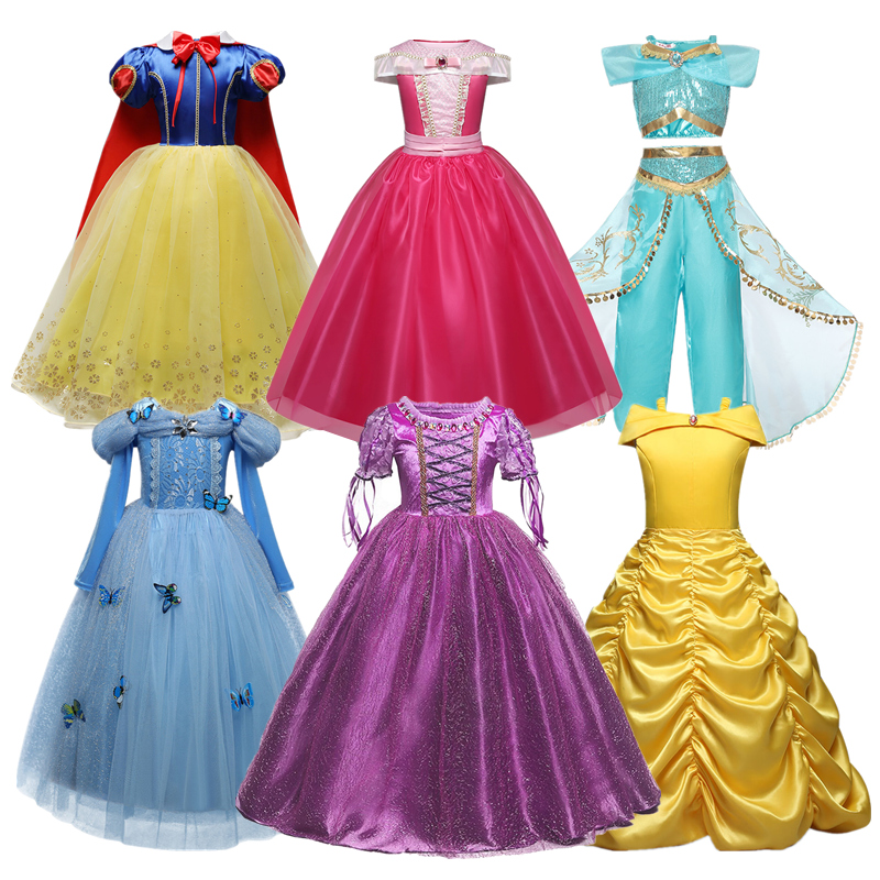4 10 Years Girls Princess Party Girl Dress Kids Cosplay Dress Up Halloween Costumes For Kids Fancy Party Dress 1