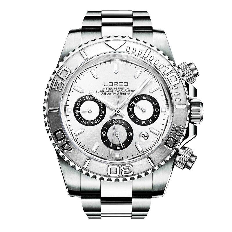 Автоматические механические часы , мужские часы с тремя глазами, многофункциональные спортивные часы , мужские водонепроницаемые гоночные ...
