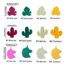 5pcs Baby Silicone Teether Unicorn Leaf Beads Baby Toys DIY