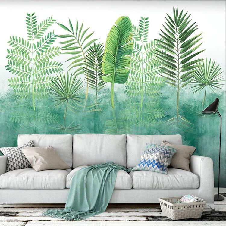 Modern Nordic Bedroom TV Background Wallpaper 3D Art Oil Painting Pastoral Style Living Room Restaurant Cafe Wallpaper
