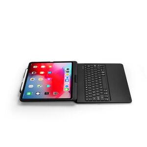 Image 5 - Ipadのプロ 12.9 11 2020 ケースとキーボード 7 色バックライト回転bluetoothキーボードタブレットipadプロ 12 9 キーボードケース