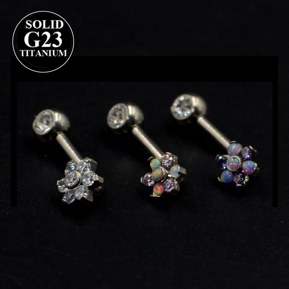 Barbell Christina Clit Vertical Hood Jewelry Genital Piercing Belly Ring VCH 14g