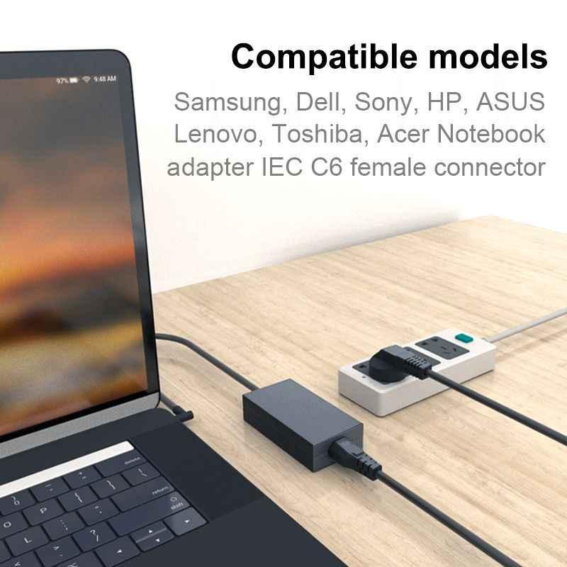 Dizüstü bilgisayar güç kablosu 1.2m 6ft 3m Euro ab Schuko fişi IEC C5 güç kaynağı kablosu HP Dell lenovo bilgisayar monitörü LG TV yazıcı