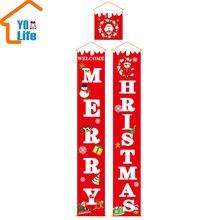 Счастливого Рождества крыльцо знак декоративный дверной баннер рождественские украшения для дома подвесные рождественские украшения Navidad