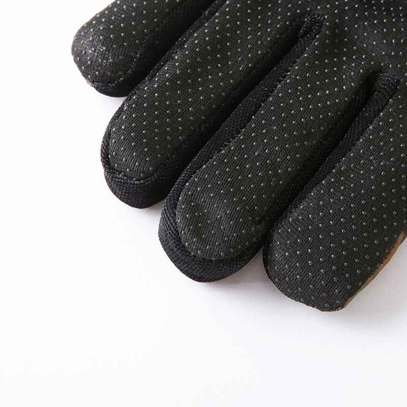 Erkek kış su geçirmez termal tam parmak eldiven kalın peluş astar kamuflaj baskı kaymaz avuç içi ayarlanabilir kar kayak eldivenleri