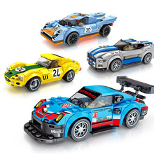 Toys For Children Racing Car Series Model Kit Compatible Legoing DIY Assembled Educational Building Blocks Brick Kids Gift O28 building blocks girls series the heartlake grand hotel model finger brick compatible 41101 educational toys for kids