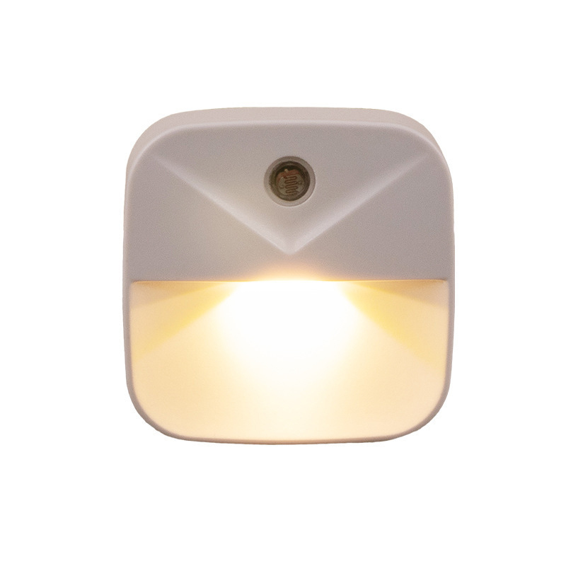 Luz de noche LED Mini Sensor de luz de Control 110V 220V UE US enchufe lámpara de luz nocturna para niños sala de estar dormitorio iluminación Nueva luz nocturna con Sensor de movimiento inteligente LED lámpara de noche a pilas WC lámpara de noche para habitación pasillo inodoro DA