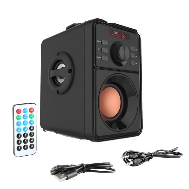Super Bass Bluetooth Speaker Portable Column High Power Subwoofer Music Center Support AUX TF FM Radio Bluetooth Column Boom Box 2