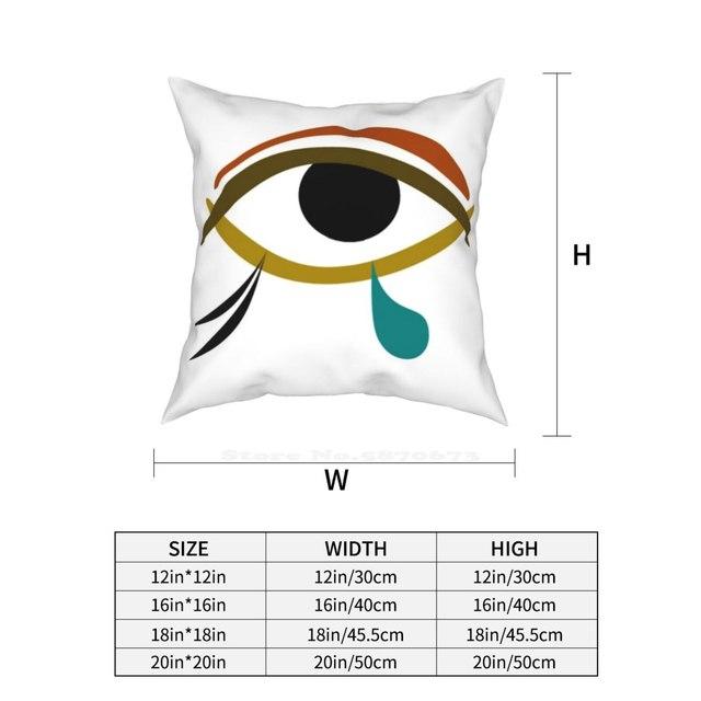 Tear Pillow Cover Hug Pillowcase Tear Tears Eye Egypt Egyptian Abstract Horus Knowledge Charm Wisdom 3