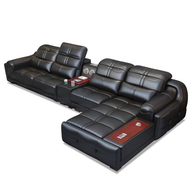 EZ-home Modern simple leather multi-functional sofa 1
